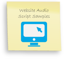 Website audio samples, example scripts for website narration
