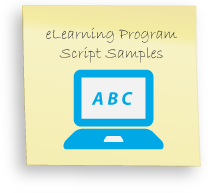 eLearning audio, eLearning narration, online learning script, web tutorial voice